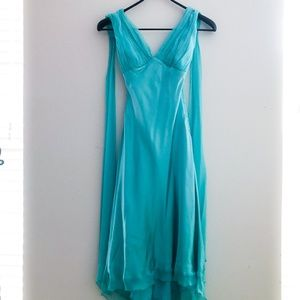 Cache Blue Green Formal Dress